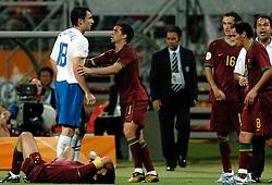 25-06-2006 VOETBAL: FIFA WORLD CUP: NEDERLAND - PORTUGAL: NURNBERG<br /> Oranje verliest in een beladen duel met 1-0 van Portugal en is uitgeschakeld / LUIS FIGO<br /> ©2006-WWW.FOTOHOOGENDOORN.NL