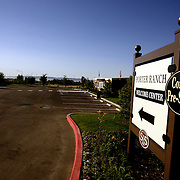 """LOS ANGELES, CA, September 26, 2007: The housing market across the nation shows continued signs of weakness as more homes, including foreclosures, are for sale in Los Angeles on September 26, 2007. A """"Welcome Center"""" for Pre Sales sits vacant and closed in the Porter Ranch suburb. (Photo by Todd Bigelow/Aurora)"""