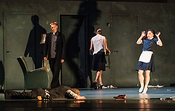 Nederlands Dans Theatre perform three works (Stop-Motion, Shoot The Moon, The missing door) at the Edinburgh International Festival. The performances run from 21-23 August 2017 at Edinburgh Playhouse<br /> <br /> Pictured: Gabriel Carrizo's The Missing Door