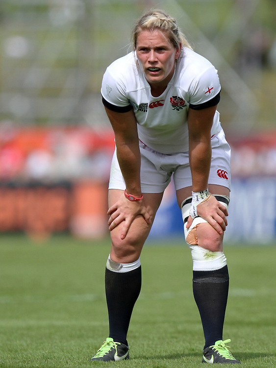 Rachael Burford. England v Canada Pool A match at WRWC 2014 at Centre National de Rugby, Marcoussis, France, on 9th August 2014