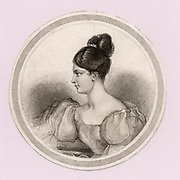 Fanny (Frances Anne) Kemble (1775-1854) English actress.  Daughter of the actor-manager and niece of Sarah Siddons the great tragic actress. Fanny made her debut at Covent Garden as Juliet in Shakespeare 'Romeo and Juliet' in October 1829 under her father's management. Engraving