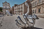 SERIES - UNRELIABLE-SIGHTINGS by PAUL WILLIAMS- giant sculpture Syracuse Sicily