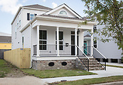 New construction by Jericho Road Housing on South Saratoga Street in New Orleans, Louisiana; ©2017, George H. Long