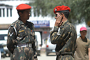 India, Ladakh region state of Jammu and Kashmir, Leh, two Indian soldiers