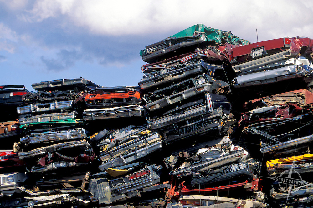 Crushed Cars Stacked