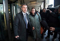 © Licensed to London News Pictures. 06/02/2018. London, UK. Former chief executive of Carillion RICHARD HOWSON leaves Portcullis house in London where former bosses of the outsourcing firm Carillion have given evidence to a Business, Energy and Industrial Strategy Committee and the Work and Pensions Committe. Carillion plc, a major government contractor, went in to administration in January 2018. Photo credit: Ben Cawthra/LNP
