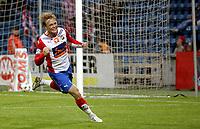 Fotball<br /> Tippeligaen Eliteserien<br /> 31.08.08<br /> Ullevaal Stadion<br /> FC Lyn Oslo - Tromsø TIL<br /> Kim Holmen jubler for sin 3-1 scoring<br /> Foto - Kasper Wikestad