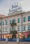 Hotel Europejski przy ulicy Lubicz w Krakowie, Polska<br /> Europejski Hotel at Lubicz Street in Cracow, Poland