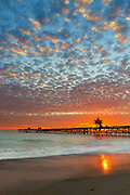 Sun Going Down at the San Clemente Pier