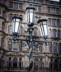 Ornate lamp post outside Belfast City Hall in Donegall Square, Belfast, Northern Ireland<br /> <br /> (c) Andrew Wilson | Edinburgh Elite media