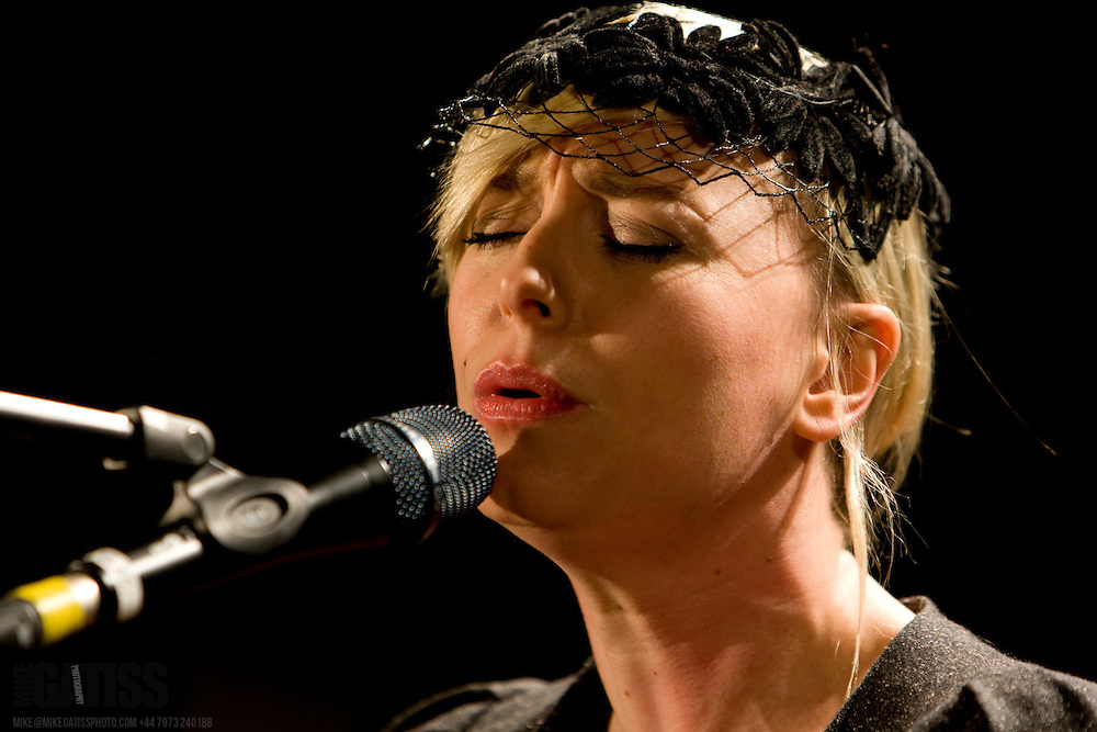 Cathy Davey performing live at Manchester Academy 2, Manchester, UK