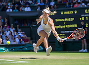 WIMBLEDON - GB -  5th July 2016: The Wimbledon Tennis Championship continues at the All England Lawn Tennis Club in S.E. London.<br /> <br /> Simona Halep (ROU) vs Angelique KERBER (Ger). <br /> ©Ian Jones/Exclusivepix Media<br /> <br /> <br /> <br /> Pictured: Angelique KERBER (Ger). Winner.