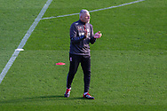 Middlesbrough assistant coach Leo Percovich watches the Middlesbrough players warming-up before the EFL Sky Bet Championship match between Brentford and Middlesbrough at Brentford Community Stadium, Brentford, England on 7 November 2020.