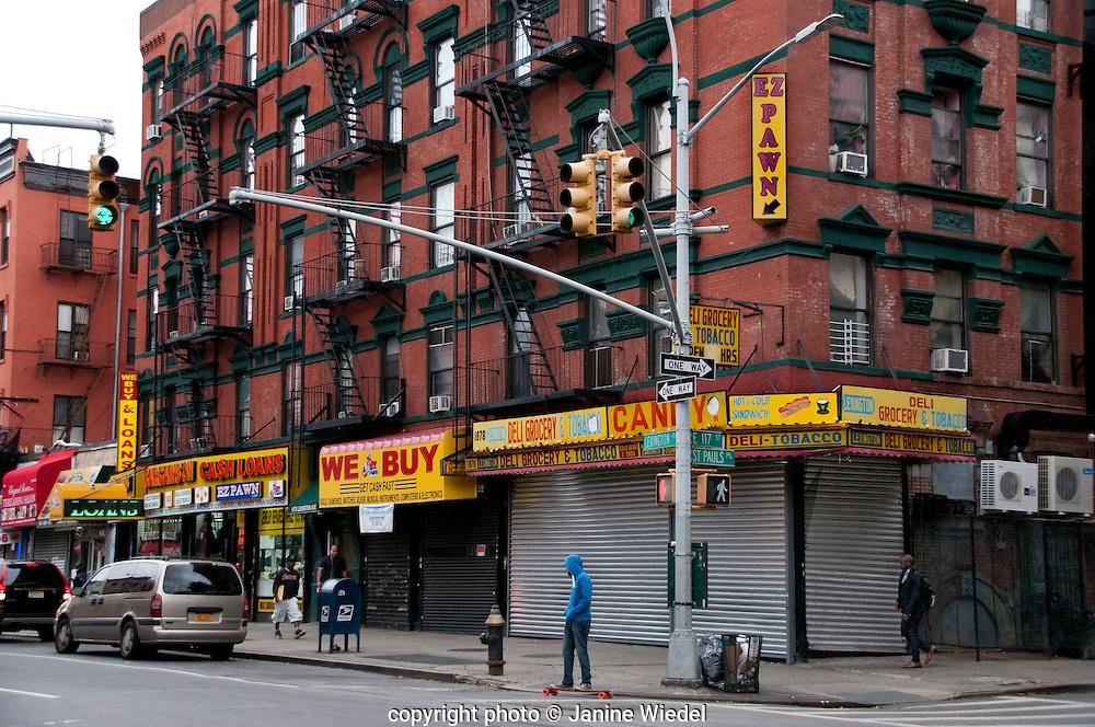 East 117th street in Harlem Manhattan New York City streets