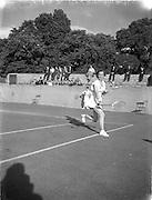 30/08/1952<br /> 08/30/1952<br /> 30 August 1952<br /> Tennis - Irish National Junior Championships at Fitzwilliam Tennis Club, Appian Way, Dublin.  Miss Ann O'brien, Sacred Heart Convent , Leeson Street, Irish Senior Girls Tennis Champion.