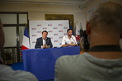 July 18, 2018 - Nice   Nice, France   France - The goalkeeper and captain of the French football team Hugo Lloris and Nice of origin, received at the Nice Town Hall by Christian Estrosi Mayor of Nice and celebrated by the Nice people gathered in the street.   Le Gardien de but  et capitaine de l'équipe de France de football Hugo Lloris et Niçois d'origine, reçu à la Mairie de Nice par Christian Estrosi Maire de Nice et fêté par les Niçois rassemblés dans la rue. 18/07/2018 (Credit Image: © Roland Macri/Belga via ZUMA Press)