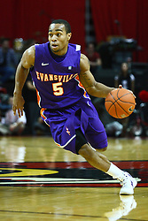 07 January 2012:  Troy Taylor during an NCAA Missouri Valley Conference mens basketball game Where the Purple Aces of Evansville lost to the Illinois State Redbirds 75-73 in Redbird Arena, Normal IL