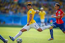 Hulk na partida entre Brasil x Chile, válida pelas oitavas de final da Copa do Mundo 2014, no Estádio Mineirão, em Belo Horizonte. FOTO: Jefferson Bernardes/ Agência Preview