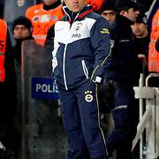Fenerbahce's coach Aykut Kocaman during their Turkish superleague soccer match Fenerbahce between Gaziantepspor at the Sukru Saracaoglu stadium in Istanbul Turkey on Monday09 January 2011. Photo by TURKPIX