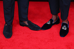 February 2, 2019 - Atlanta, GA, U.S. - ATLANTA, GA - FEBRUARY 02:  Shaquem Griffin and his brother Shaquill Griffin shoes as they pose for photos on the red carpet at the NFL Honors on February 2, 2019 at the Fox Theatre in Atlanta, GA. (Photo by Rich Graessle/Icon Sportswire) (Credit Image: © Rich Graessle/Icon SMI via ZUMA Press)