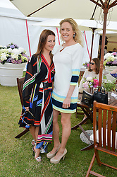 Left to right, JULIET ANGUS and LADY ALEXANDRA SPENCER-CHURCHILL at the Cartier Queen's Cup Polo final at Guard's Polo Club, Smiths Lawn, Windsor Great Park, Egham, Surrey on 14th June 2015