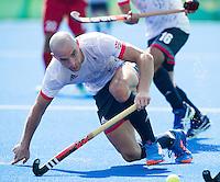 RIO DE JANEIRO  (Brazilië) -  Nick Catlin (GB) during the poulematch hockey men Belgium v Great Britain (4-1),   Olympic Games 2016 . Copyright Koen Suyk