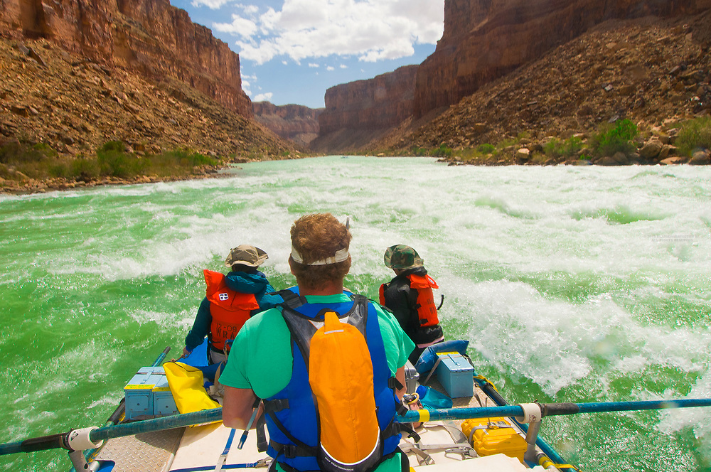 Whitewater rafting, Badger Creek Rapid, Marble Canyon, Grand Canyon National Park, Arizona USA