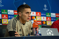 February 12, 2019 - Amsterdam, Netherlands - Ajax Amsterdam Dusan Tadic pictured during the press conference before UEFA Champions League match playoff 1/8 finals game between Ajax Amsterdam and Real Madrid at Amsterdam Arena on February 12, 2019 in Amsterdam Netherlands. (Credit Image: © Federico Guerra Moran/NurPhoto via ZUMA Press)