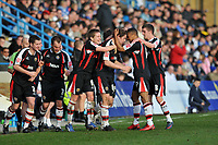 Photo: Tony Oudot/Richard Lane Photography. Gillingham v Shrewsbury Town. Coca-Cola Football League Two. 28/02/2009. <br /> GOAL! Shrewsbury celebrate Grant Holts last minute equaliser