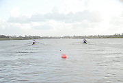 Eton, GREAT BRITAIN,  GV, General View, from the Start, M2- race, GB Trials 3rd Winter assessment at,  Eton Rowing Centre, venue for the 2012 Olympic Rowing Regatta, Trials cut short due to weather conditions forecast for the second day Sunday  13/02/2011   [Photo, Karon Phillips/Intersport-images]