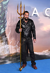 Jason Momoa attending the Aquaman premiere held at Cineworld in Leicester Square, London on November 26, 2018. Photo credit should read: Doug Peters/EMPICS
