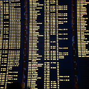 Departing flights display in Paris Airport, Charles de Gaulle.