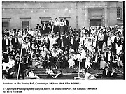 Survivors at the Trinity Ball, Cambridge. 18 June 1984. Film 84508f13<br />© Copyright Photograph by Dafydd Jones<br />66 Stockwell Park Rd. London SW9 0DA<br />Tel 0171 733 0108