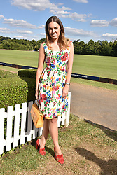 Amber Le Bon at the Laureus polo Cup at Ham Polo Club, Ham, London, England. 21 June 2018.