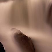 Rushing Sunwapta Falls in Jasper National Park, Alberta, Canada.