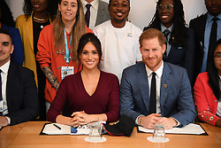 The Duke and Duchess of Sussex during a roundtable discussion on gender equality with the Queen's Commonwealth Trust and One Young World at Windsor Castle.