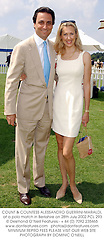 COUNT & COUNTESS ALESSANDRO GUERRINI-MARALDI, at a polo match in Berkshire on 28th July 2002.PCL 293