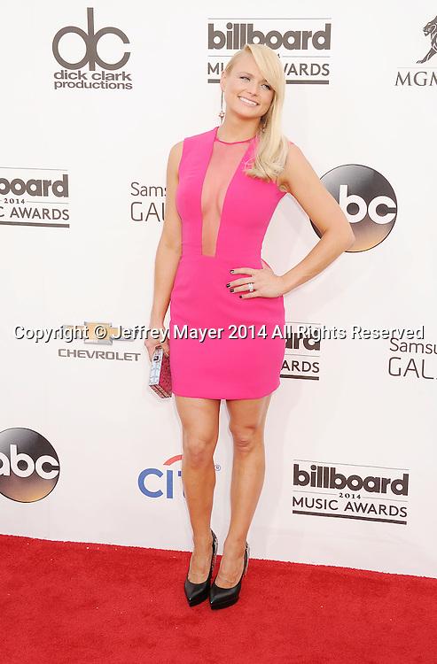 LAS VEGAS, CA- MAY 18: Singer Miranda Lambert  arrives at the 2014 Billboard Music Awards at the MGM Grand Garden Arena on May 18, 2014 in Las Vegas, Nevada.