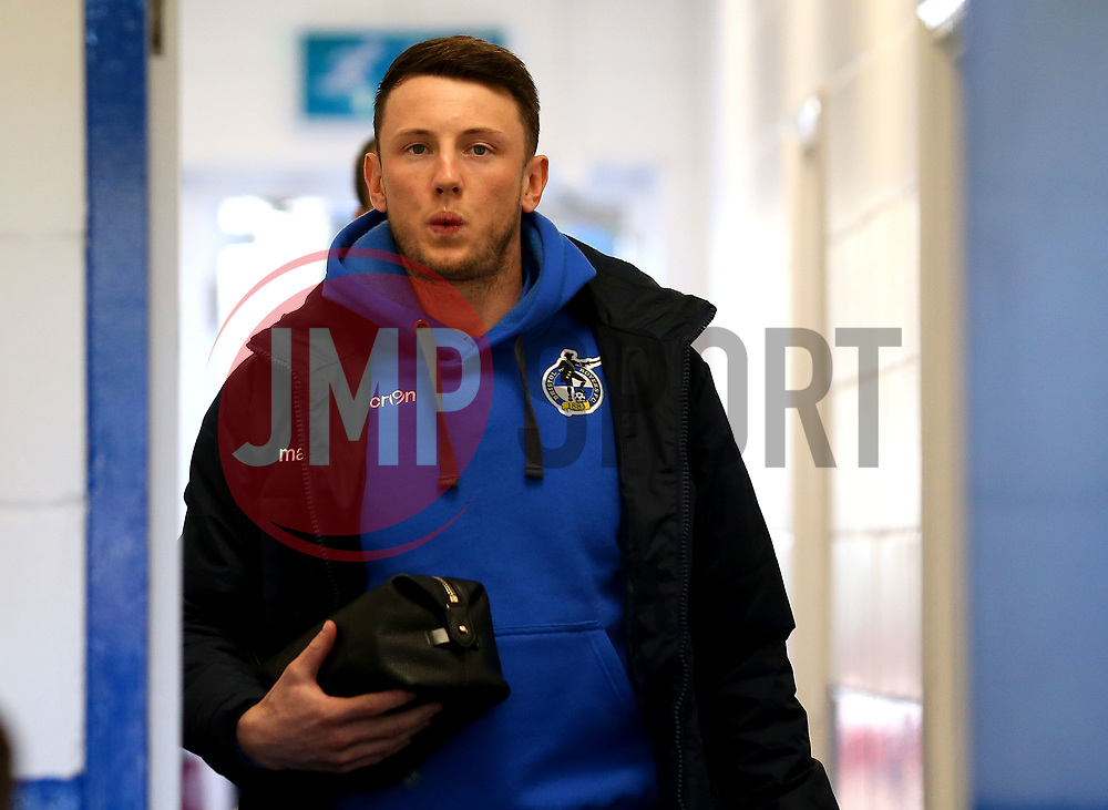 Ollie Clarke of Bristol Rovers arrives at The Cherry Red Records Stadium, for the game against AFC Wimbledon - Mandatory by-line: Robbie Stephenson/JMP - 17/02/2018 - FOOTBALL - Cherry Red Records Stadium - Kingston upon Thames, England - AFC Wimbledon v Bristol Rovers - Sky Bet League One