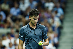 September 5, 2018 - Flushing Meadow, NY, U.S. - FLUSHING MEADOW, NY - SEPTEMBER 04: DOMINIC THIEM (AUT) day nine of the 2018 US Open on September 04, 2018, at Billie Jean King National Tennis Center in Flushing Meadow, NY. (Photo by Chaz Niell/Icon Sportswire) (Credit Image: © Chaz Niell/Icon SMI via ZUMA Press)