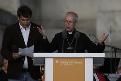 May 24, 2017 - Berlin, Germany - Justin Welby, the Archbishop of Canterbury addresses the congregation. Representatives of Politics and other Christian denominations addressed the opening service of the 36th German Protestant Church Congress in Berlin. The congress coincides with the 500. anniversary of the Reformation. (Credit Image: © Michael Debets/Pacific Press via ZUMA Wire)