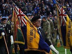 General view as part of the Remembrance Day events  - Mandatory byline: Jack Phillips/JMP - 07966386802 - 7/11/2015 - SPORT - FOOTBALL - Leicester - King Power Stadium - Leicester City v Watford - Barclays Premier League