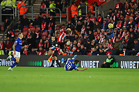 Football - 2019 / 2020 Premier League - Southampton vs. Everton<br /> <br /> Morgan Schneiderlin of Everton slides in to win the ball from Southampton's Moussa Djenepo during the Premier League match at St Mary's Stadium Southampton <br /> <br /> COLORSPORT/SHAUN BOGGUST