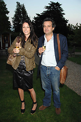Chef MARK HIX and CLARE LATTIN at a party to celebrate the 100th issue of Waitrose's Food Illustrated magazine held at The Physic Garden, Chelsea, London on 13th September 2007.<br /><br />NON EXCLUSIVE - WORLD RIGHTS