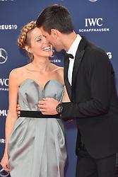 February 18, 2019 - Monaco, Monaco - Novak Djokovic (R) and Jelena Ristic arriving at the 2019 Laureus World Sports Awards on February 18, 2019 in Monaco  (Credit Image: © Famous/Ace Pictures via ZUMA Press)