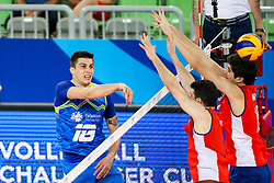 Klemen Cebulj of Slovenia during volleyball match between Slovenia and Chile in Group A of FIVB Volleyball Challenger Cup Men, on July 3, 2019 in Arena Stozice, Ljubljana, Slovenia. Photo by Matic Klansek Velej / Sportida