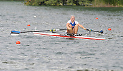 Lucerne, SWITZERLAND,  EST W1X, Kaisa PAJUSALU, moves away from the start, of the third round of the  2009 FISA World Cup,  on the Rottsee regatta Course, Friday  10/07/2009 [Mandatory Credit Peter Spurrier/ Intersport Images].