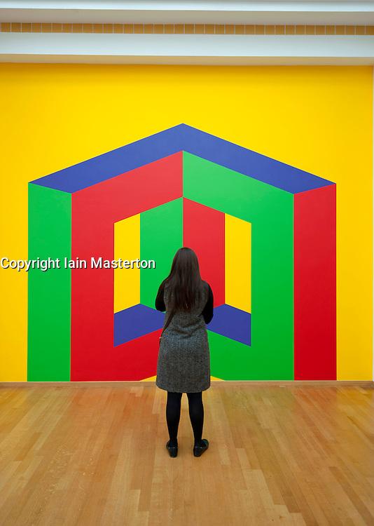 Modern art painting at the Gemeentemuseum in The Hague, Den Haag,  Netherlands