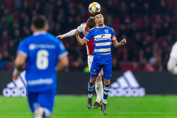 13-03-2019 NED: Ajax - PEC Zwolle, Amsterdam<br /> Ajax has booked an oppressive victory over PEC Zwolle without entertaining the public 2-1 / Younes Namli #21 of PEC Zwolle, Lasse Schone #20 of Ajax
