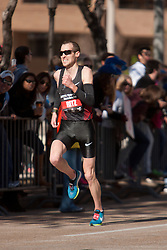 Dathan Ritzenhein, with quarter mile to go in men's marathon, finishes 4th